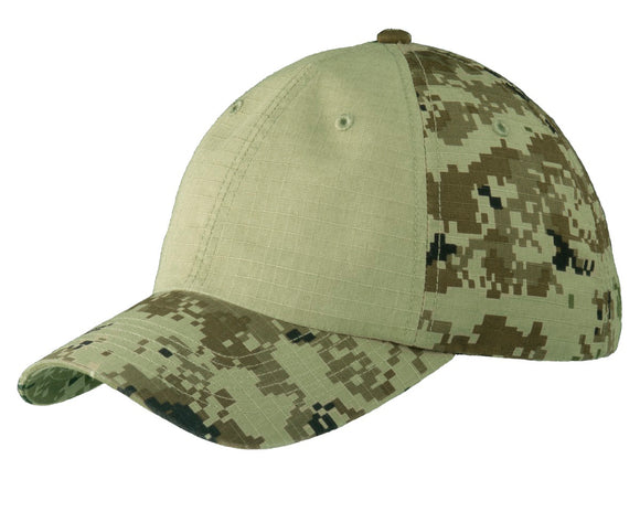 Top Headwear Colorblock Digital Ripstop Camouflage Cap
