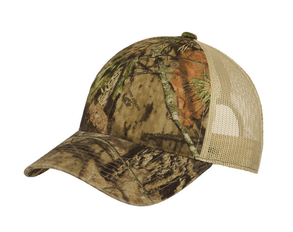 Top Headwear Unstructured Camouflage Mesh Back Cap