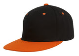 TopHeadwear Cotton Two-Tone Flat Bill Snapback