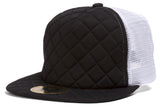 TopHeadwear Quilted Adjustable Trucker Hat - Black