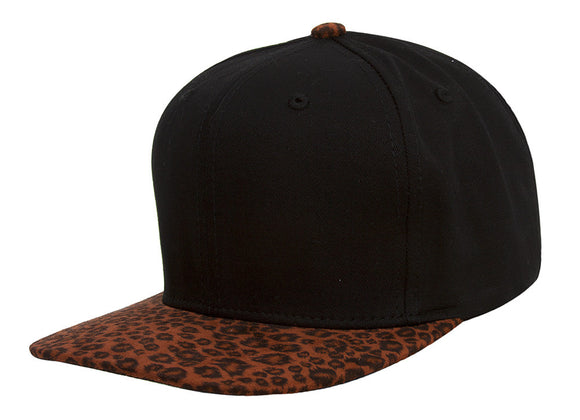 TopHeadwear Leopard Print Two-Tone Adjustable Snapback