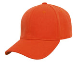 TopHeadwear Plain Adjustable Curved Bill Caps