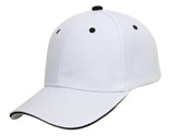 TopHeadwear Plain Adjustable Curved Sandwich Bill Caps