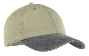Top Headwear Two-Tone Pigment-Dyed Cap