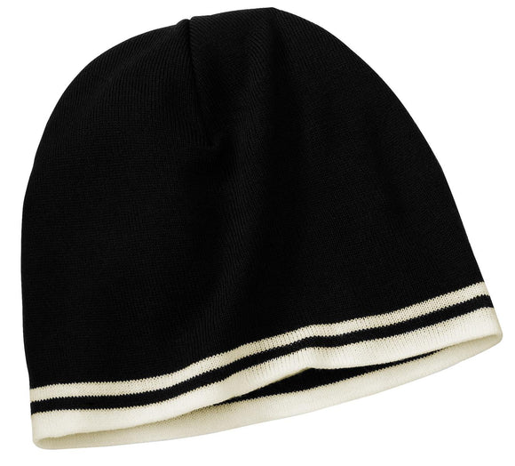 Top Headwear Fine Knit Skull Cap with Stripes