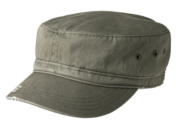 Top Headwear Distressed Military Hat