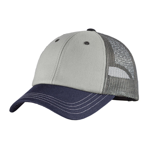 Top Headwear Tri-Tone Mesh Back Cap