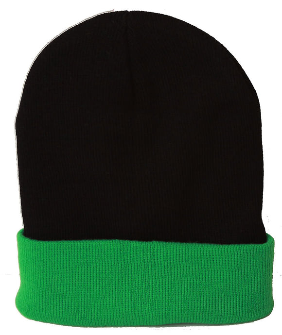 TopHeadwear's Winter Cuffed Beanie Cap Two Toned
