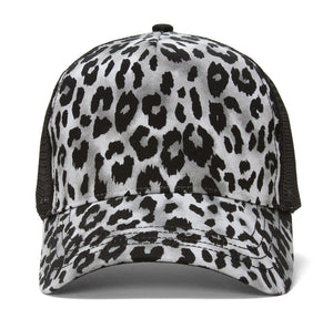 Topheadwear Animal Print Fashion Trucker Cap - Brown Cheetah Print