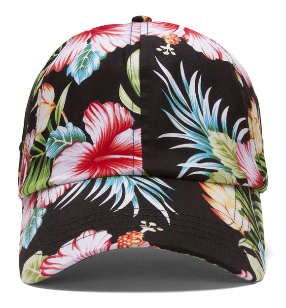 Low Profile Unstructured Floral Cap