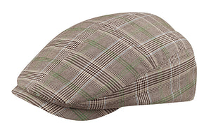 Fashion Plaid Ivy Cap - Brown