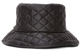 TopHeadwear Quilt Bucket Hat - Black