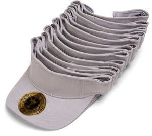 Blank Adjustable Visors - 12-Pack