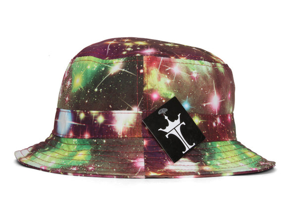 TopHeadwear Print Bucket Hats - Galaxy Burgundy - Large/X-Large