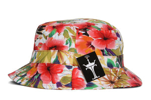 TopHeadwear Print Bucket Hats - Hawaii Flower Pink - Small/Medium