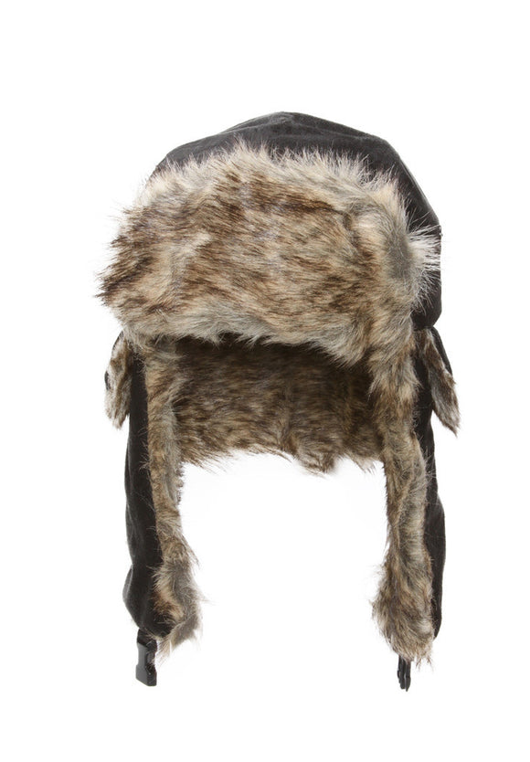 Faux Fur Trimmed Soft Warm Trooper Hat