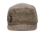 Ladies Poly-Wool Stylish Cadet Cap w/ Buckle