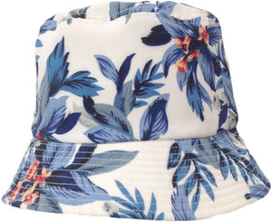 Topheadwear Tropical Poly-Cotton Floral Bucket Hat - Black