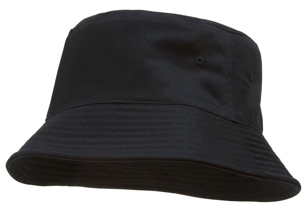 topheadwear blank cotton bucket hat black small medium 57cm