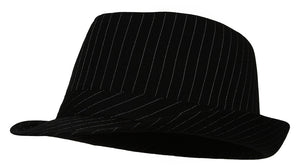 Topheadwear Pinstripe Fedora Hat - Small/Medium