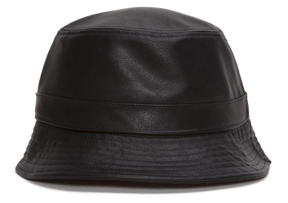 TopHeadwear Vegan Leather Bucket Hat