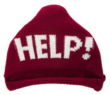 """Help!"" Knitted Triangle Beanie"