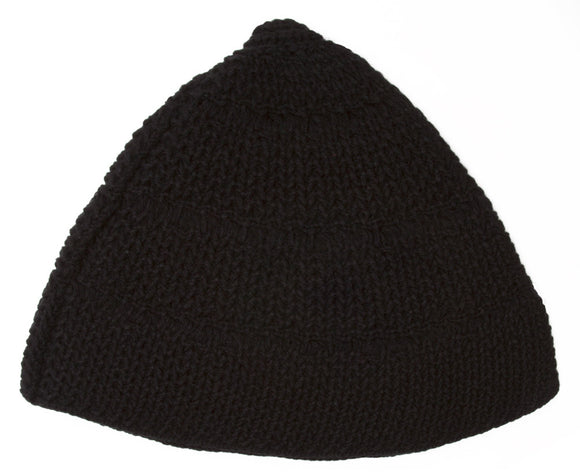 Topheadwear Knitted Triangle Beanie - Black