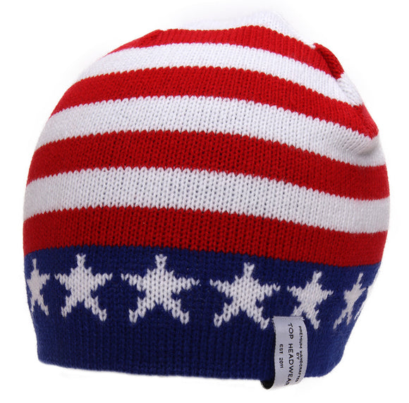 TopHeadwear USA Flag Knitted Beanie