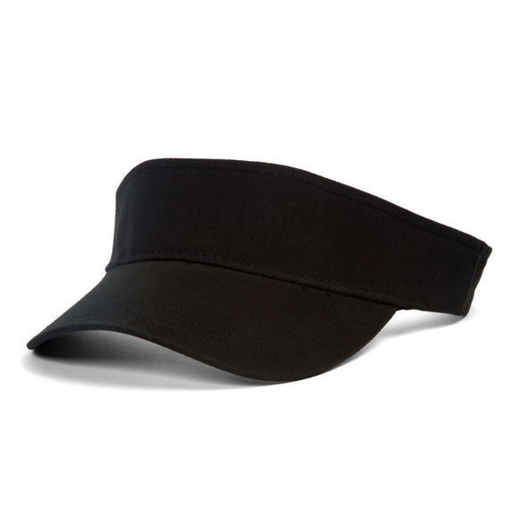 TopHeadwear Plain Sports Visors, Black