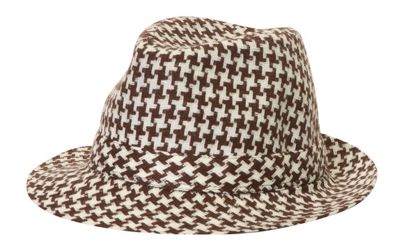 TopHeadwear Houndstooth Fedora