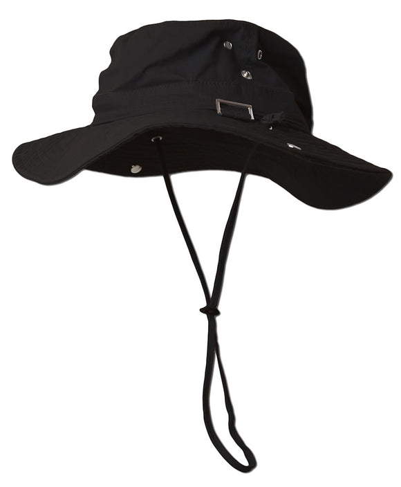 Fishing Draw String Boonie Hat With Top Side Buckle for ID