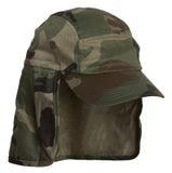 Topheadwear SOLID T/C TWILL CAP WITH FLAP, Army Camouflage