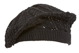 Topheadwear Winter Knitted Beret Beanie - Black