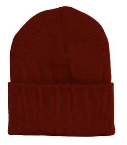 Topheadwear Solid Winter Long Beanie (Comes In Many Different Colors) - Burgundy
