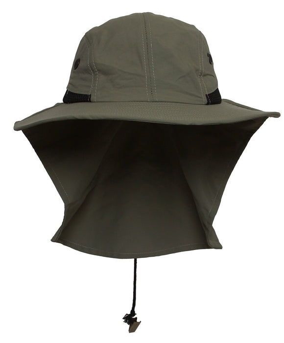 TopHeadwear Mens Outdoor Flap Cap 4-p- Olive