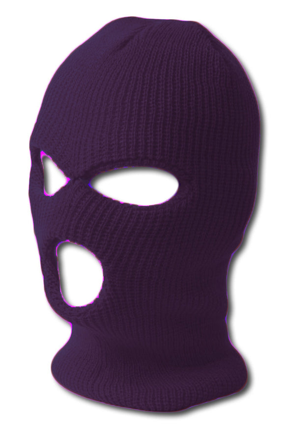 TopHeadwear's 3 Hole Face Ski Mask, Purple