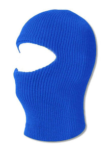 TopHeadwear GI Waffle Ribbed Ski Mask - Royal Blue (2 Different Styles), 1 Hole