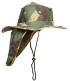 Top Headwear Safari Explorer Bucket Hat With Flap Neck Cover - Beige, XL