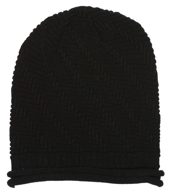 Winter Knitted Diagonal Beanie
