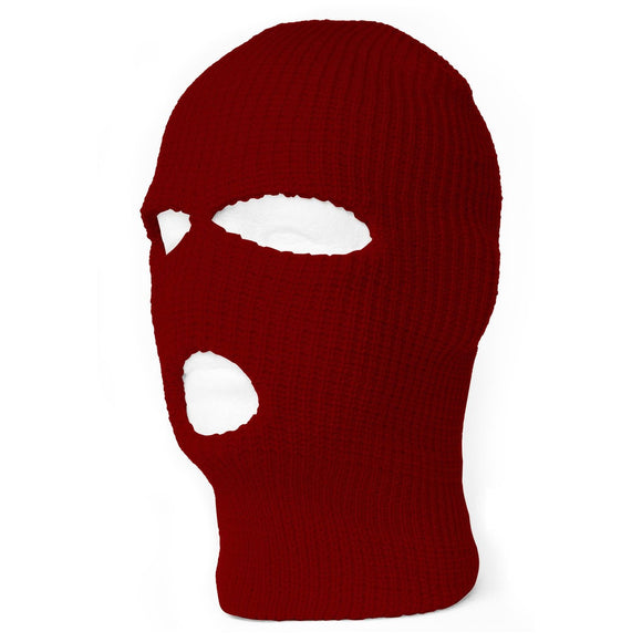TopHeadwear's 3 Hole Face Ski Mask, Burgundy
