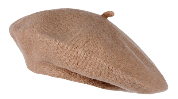 TopHeadwear French Wool Beret, Camel