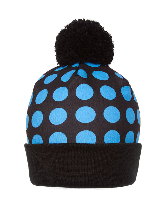 Winter Unisex Sublimation Cuffed Beanie w/ Pom