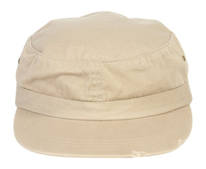 TopHeadwear Distressed Grenadier Basic GI Cap - Khaki