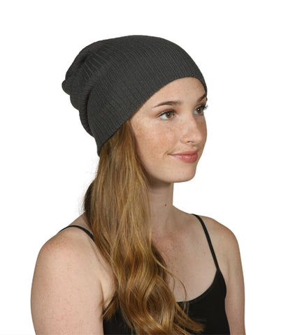 Gossip Girl Ribbed Beanie Slouchy Knit Hat