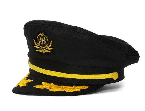 Mens Adjustable Captain's Cap