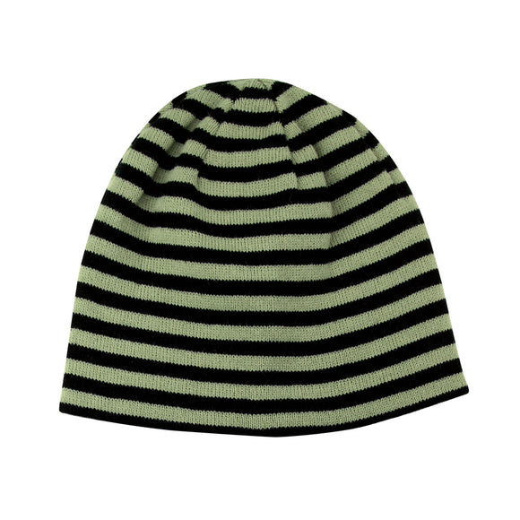 Reversible Striped Cuffless Beanie