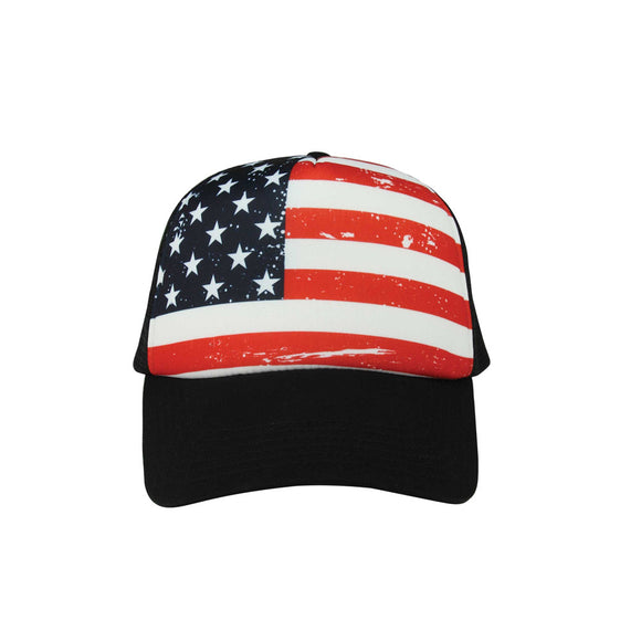 USA Stars and Stripes Trucker Cap