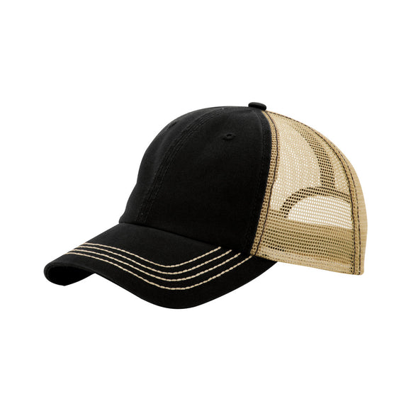 TopHeadwear Washed Cotton Twill Adjustable Trucker Cap