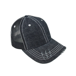 TopHeadwear Denim Mesh Adjustable Cap