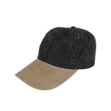 TopHeadwear Washed Denim Cap w/ Suede Bill
